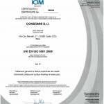 ICM certificato qualita galvanica consonni