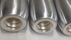 Argentatura parziale testa e interno su contatti in alluminio - Consonni