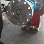 Trattamenti galvanici presso sede cliente, argentatura su rotori di grandi dimensioni Alstom 2
