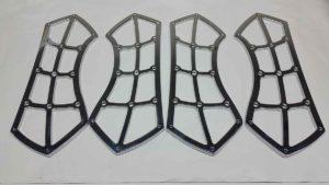 Cromatura per esterni, cromatura microporosa con sottostrato di triplo nickel su modanature in alluminio per motocicli