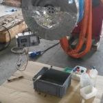 Trattamenti galvanici presso sede cliente, argentatura su rotori di grandi dimensioni Alstom