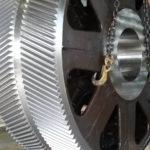 Trattamenti galvanici presso sede cliente, argentatura su rotori di grandi dimensioni Alstom 3