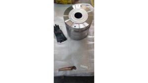 particolare in acciaio di kg 290 argentato parzialmente con tecnica ad immersione